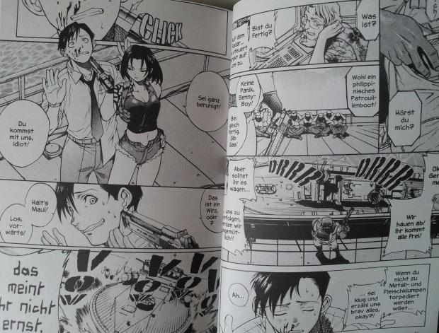 Ausschnitt aus Band 1 von Black Lagoon von Rei Hiroe; Carlsen Manga