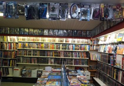 Blick auf die US-Comics und ein paar Actionfiguren