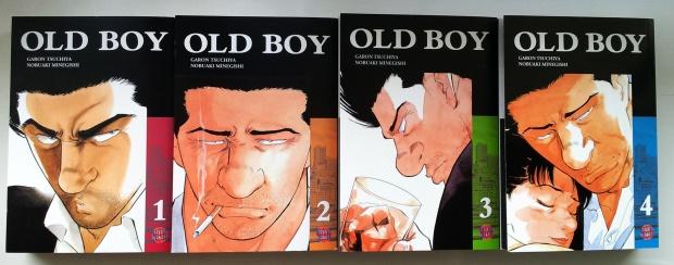 """Alle vier Bände von """"Old Boy""""; Garon Tsuchiya/Nobuaki Minegishi; Carlsen Manga. Leider gab es den letzten nur mit Glanz-Cover :("""