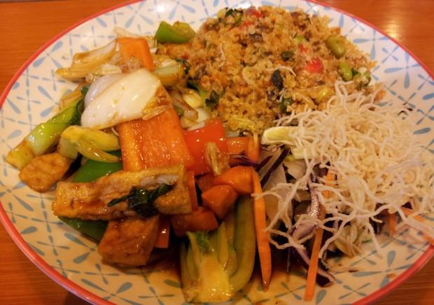 Ja, das war mein Abendessen beim Wok am ersten Abend ;)