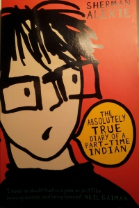 The absolutely true diary of a part-time Indian; Sherman Alexie; Andersen Press; abgebildet ist das Comic-Ich des Hauptcharakters