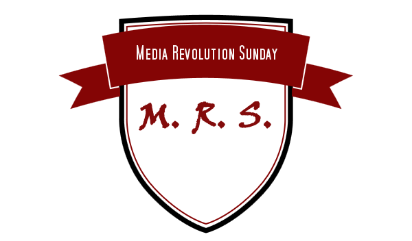 Das neue Logo des Media Revolution Sunday - gebastelt mit dem Hipster Logo Generator (Ja, der heißt so xD)