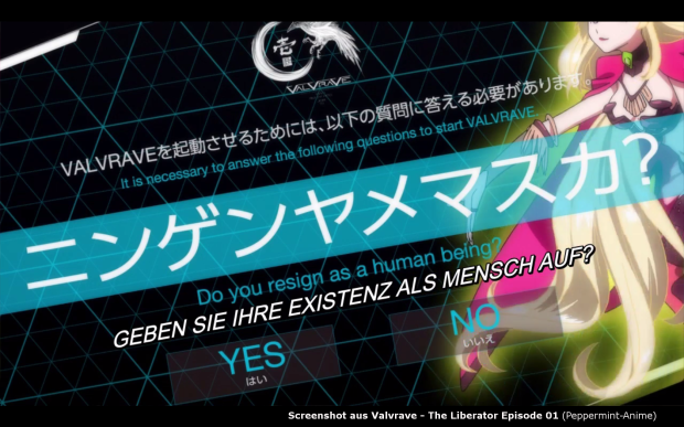 Valvrave - The Liberator; Screenshot vom Peppermint-Anime Portal