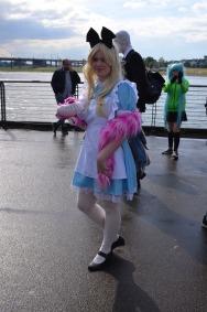 Natürlich gab es unglaublich viele Nicht-Anime Cosplays. So zum Beispiel Alice im Wunderland inklusive Grinsekatze.