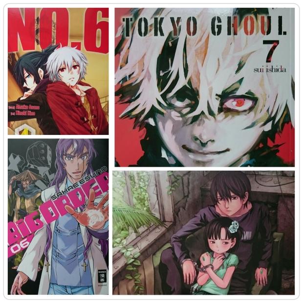 NO. 6 Band 4, Tokyo Ghoul 7, Big Order 6 und Btooom! 7