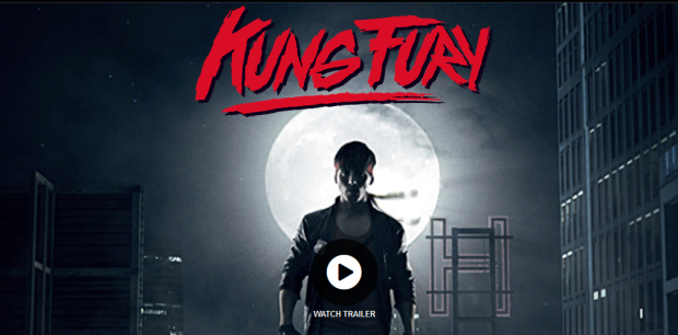 Screenshot of the Kung Fury website